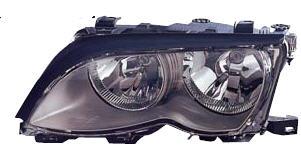 BMW E46 Фара левая (Седан) с рег. мотором внутри черная на BMW e46 (БМВ е46) - цена, наличие, описание