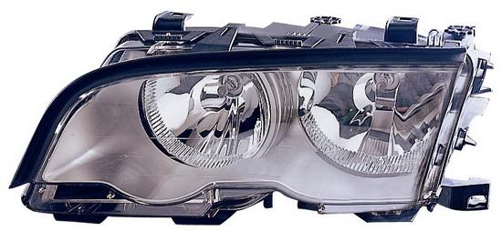 BMW E46 Фара левая с рег. мотором внутри хром на BMW e46 (БМВ е46) - цена, наличие, описание