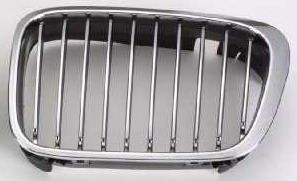 BMW E46 Решетка радиатора левая хром-черная на BMW e46 (БМВ е46) - цена, наличие, описание