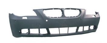 BMW E60 Бампер передний с отверстием под омыватель фар, с отверстием под датчики, грунт на BMW e60 (БМВ е60) - цена, наличие, описание