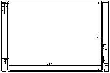 BMW E60 {E63/E64 04-/E65/E66 01-} Радиатор охлаждения  (NISSENS) (см.каталог) на BMW e65, e66 (БМВ е65, е66) - цена, наличие, описание