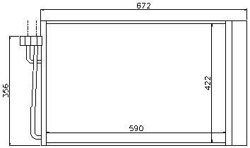 BMW E60 {E63 04-/E65 01-} Конденсатор кондиционера (NISSENS) (NRF) (GERI) (см.каталог) на BMW e65, e66 (БМВ е65, е66) - цена, наличие, описание