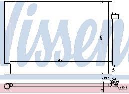 BMW X5 {X6 08-} Конденсатор кондиционера (NISSENS) (см.каталог) на BMW e70 x5 (БМВ е70 х5) - цена, наличие, описание