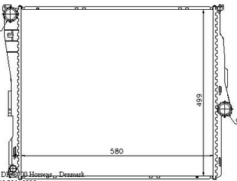 BMW X3 Радиатор охлаждения (NISSENS) (см.каталог) на BMW e83 x3 (БМВ е83 х3) - цена, наличие, описание