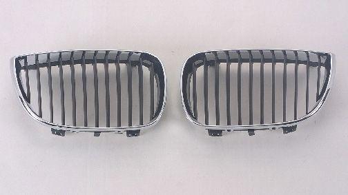 BMW E87 Решетка радиатора левая, черный-хром на BMW e87 1-er (БМВ е87) - цена, наличие, описание