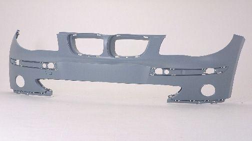 BMW E87 Бампер передний без отверстий под омыватели фар, грунт на BMW e87 1-er (БМВ е87) - цена, наличие, описание