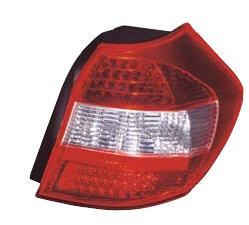 BMW E87 Фонарь задний внешний левый+правый (комплект) тюнинг (хэтчбек) хрустальный, с диодными габаритами , стоп-сигнал красно-белый на BMW e87 1-er (БМВ е87) - цена, наличие, описание