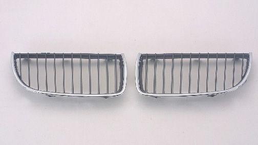 BMW E90 Решетка радиатора левая черный-хром на BMW e90, e91, e92 (БМВ е90, е91, е92) - цена, наличие, описание