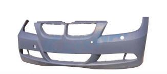 BMW E90 Бампер передний с отверстиями под омыватели фар , под датчики парковки, грунт на BMW e90, e91, e92 (БМВ е90, е91, е92) - цена, наличие, описание