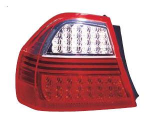 BMW E90 Фонарь задний внешний левый+правый (комплект) тюнинг, диодный, прозрачный, красный на BMW e90, e91, e92 (БМВ е90, е91, е92) - цена, наличие, описание