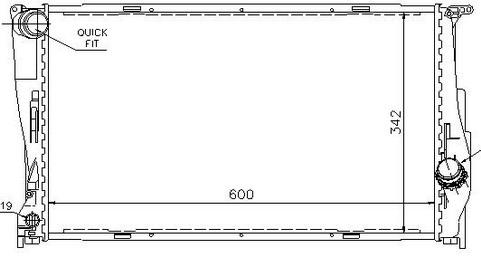 BMW E87 {E90/91/92} Радиатор охлаждения (NISSENS) (см.каталог) на BMW e90, e91, e92 (БМВ е90, е91, е92) - цена, наличие, описание