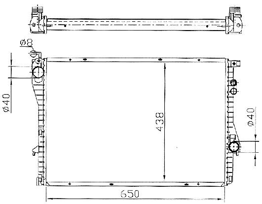 BMW E38, E39 - радиатор охлаждения (см. каталог) на BMW e39 (БМВ е39) - цена, наличие, описание
