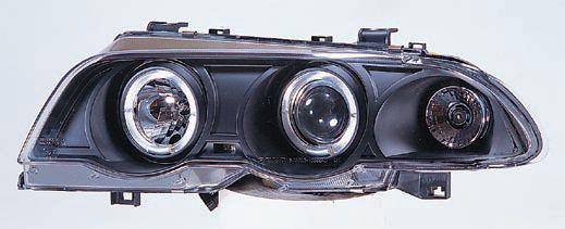 BMW E46 ФАРА Л+П (КОМПЛЕКТ) ТЮНИНГ ЛИНЗОВАН С 2 СВЕТЯЩ ОБОДК ЛИТОЙ УК.ПОВОР С РЕГ.МОТОР (SONAR) ВНУТРИ ЧЕРН на BMW e46 (БМВ е46) - цена, наличие, описание