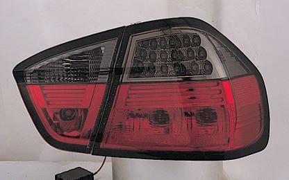 BMW E90 Фонарь задний внешний+внутренний, левый+правый (комплект) тюнинг, седан, прозрачный с диодными указателями поворота, тонированный, внутри красный тонированный на BMW e90, e91, e92 (БМВ е90, е91, е92) - цена, наличие, описание