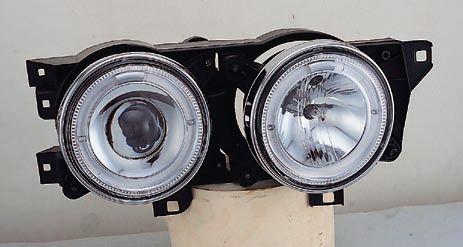 BMW E34 {E32} ФАРА Л+П (КОМПЛЕКТ) ТЮНИНГ ЛИНЗОВАН С 2 СВЕТЯЩ ОБОДК В СБОРЕ (SONAR) на BMW e34 (БМВ е34) - цена, наличие, описание