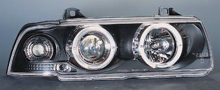 BMW E36 ФАРА +УКАЗ.ПОВОРОТА Л+П (КОМПЛЕКТ) ТЮНИНГ (СЕДАН) (compact) С 2 СВЕТЯЩ ОБОДК , ЛИТОЙ УК.ПОВОР (SONAR) ВНУТРИ ЧЕРН на BMW e36 (БМВ е36) - цена, наличие, описание