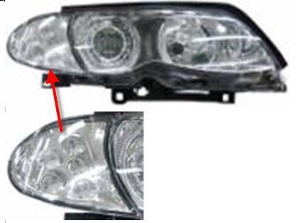 BMW E46 ФАРА Л+П (КОМПЛЕКТ) ТЮНИНГ ЛИНЗОВАН С 2 СВЕТЯЩ ОБОДК С УК.ПОВОР ДИОД С РЕГ.МОТОР ВНУТРИ ХРОМ на BMW e46 (БМВ е46) - цена, наличие, описание