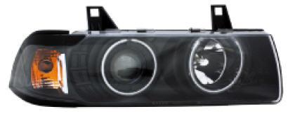 BMW E36 ФАРА +УКАЗ.ПОВОРОТА Л+П (КОМПЛЕКТ) ТЮНИНГ (СЕДАН) (compact) С 2 СВЕТЯЩ ОБОДК П/КОРРЕКТОР , ЛИТОЙ на BMW e36 (БМВ е36) - цена, наличие, описание
